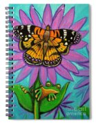 Frog And Butterfly Spiral Notebook