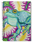 Frog And Flower Spiral Notebook