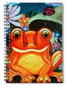 Frog And Flowers Spiral Notebook