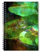 Frog And Lily Pad 3076 Idp_2 Spiral Notebook