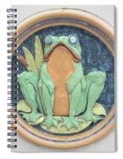 Frog Ceramic Plaque Spiral Notebook