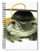 Frog Graduate Spiral Notebook