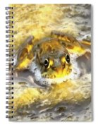 Frog In Deep Water Spiral Notebook