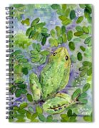 Frog In The Pond Spiral Notebook
