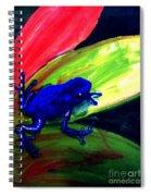 Frog On Leaf Spiral Notebook
