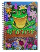 Frog On Mushroom Spiral Notebook