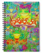 Frogs And Mushrooms Spiral Notebook