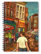 From Schwartz's To Warshaws To The  Main Steakhouse Montreal's Famous Landmarks By Carole Spandau  Spiral Notebook