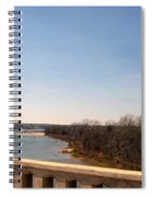 From The Bridge The Red River Spiral Notebook
