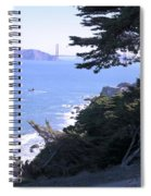 From The Cliff Of Lands' End 04 Spiral Notebook