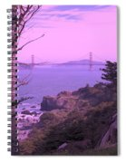 From The Cliff Of  Lands End 06 Spiral Notebook