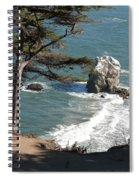 From The Cliff Of Lands' End Spiral Notebook