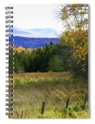 From The Field To The Mountains Spiral Notebook