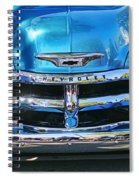 Front End Blue And Chrome Chevy Pick Up Spiral Notebook