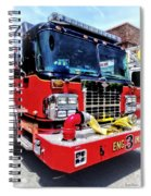 Front Of Fire Truck With Hose Spiral Notebook