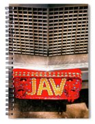 Front Of The Car - Grill And Plate Spiral Notebook