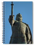 Front View Of King Afonso The Third Statue. Portugal Spiral Notebook