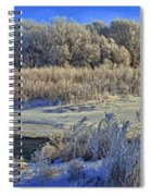 Frost Along The Creek - Panorama Spiral Notebook