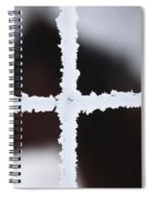 Frost Covered Fence And Horse Spiral Notebook