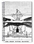 Frost Flying Machine, 1891 Spiral Notebook