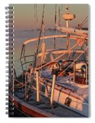 Frost On The Boat Spiral Notebook
