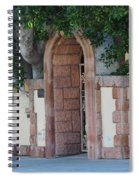 Frosted Almond Garden Wall With Red Brick Entrance Spiral Notebook