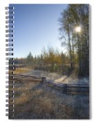 Frosted Fence Spiral Notebook