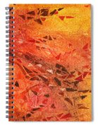 Frosted Fire I Spiral Notebook