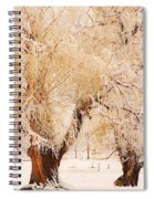 Frosted Golden Trees Spiral Notebook