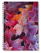 Frosted Red Oak Leaves Spiral Notebook