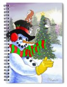Frosty And Friends Spiral Notebook