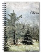 Frosty Christmas Card Spiral Notebook