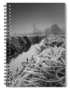 Frosty Field Spiral Notebook