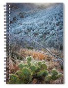 Frosty Prickly Pear Spiral Notebook
