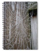 Frosty Web Spiral Notebook