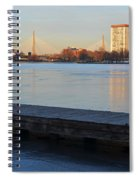 Frozen Dock On The Charles River Spiral Notebook