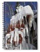 Frozen Apostle Islands National Lakeshore Portrait Spiral Notebook