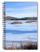 Frozen Bryant Pond Spiral Notebook
