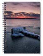 Frozen Cut River Dam Spiral Notebook