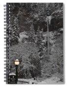 Frozen Dusk Spiral Notebook