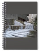 Frozen Fountain Spiral Notebook