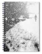 Frozen Moments - Walking Away Spiral Notebook