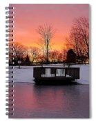 Frozen Sunrise Spiral Notebook
