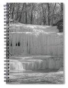 Frozen Waterfall Spiral Notebook