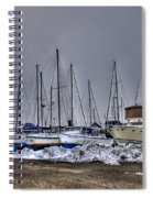 Frozen Waves Spiral Notebook