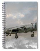 Frs1 Sea Harrier On Vertical Approach Spiral Notebook