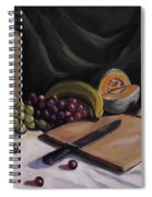 Fruit By The Light Spiral Notebook