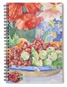 Fruit On A Plate Spiral Notebook