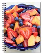 Fruit Salad In Blue Bowl Spiral Notebook