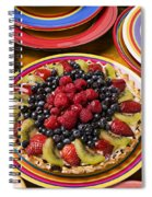 Fruit Tart Pie Spiral Notebook